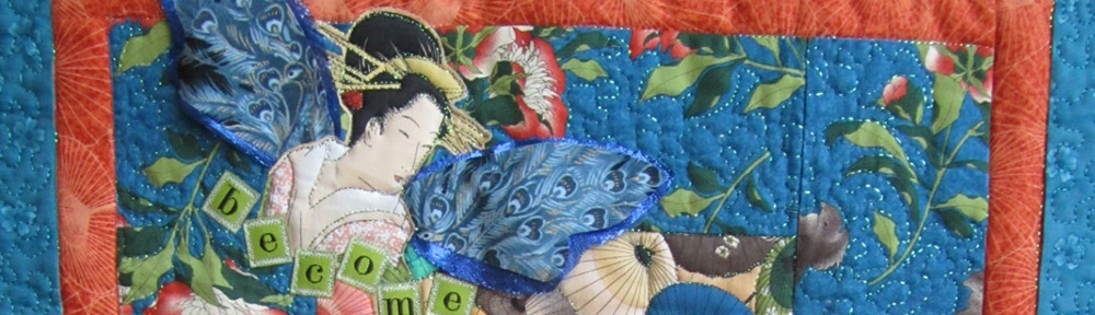 Fabric Art Quilt by Lisa Tsang.
