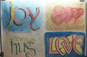 Nancy Anderson Chalk Drawing